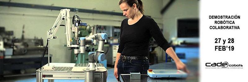 Demostración de robótica colaborativa en CADE Cobots